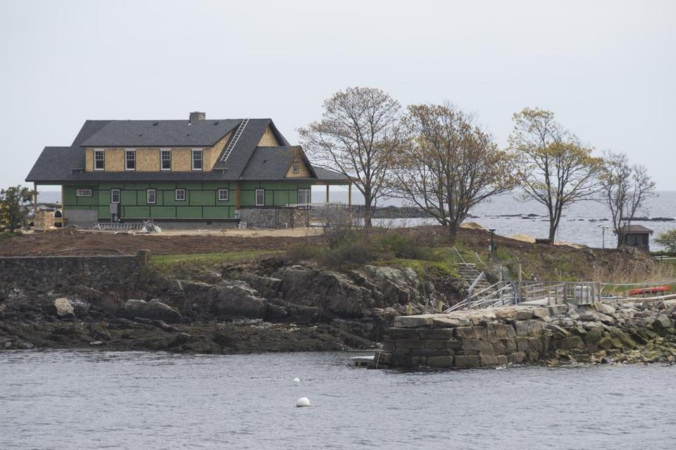 Jeb Bush's house, under construction at the Bush family compound on Walker's Point in Kennebunkport, Maine